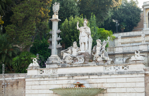 Ancient Fontana del Nettuno in Rome, Italy