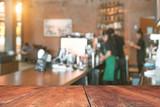 Blur coffee shop background