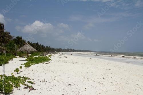 Staande foto Zanzibar White sand beach in Zanzibar, Tanzania