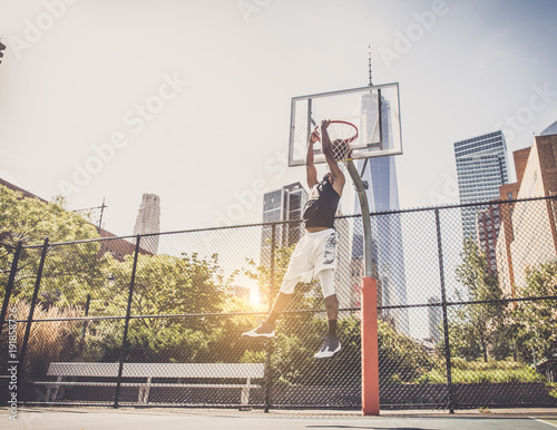 Aluminium Basketbal Basketball player playing outdoors