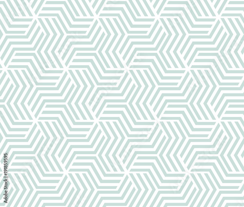 The geometric pattern with stripes . Seamless vector background. White and green texture. Graphic modern pattern. - 191859595