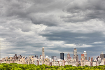 Stormy cloudscape over Manhattan skyline, NYC.