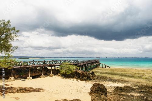 Staande foto Beige Beautiful ocean landscape island prison, Zanzibar, Tanzania
