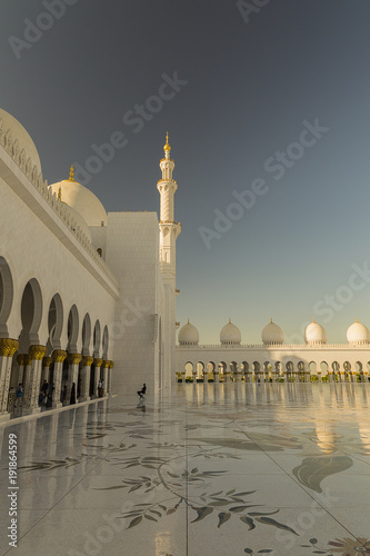 Poster Abu Dhabi The White Mosque