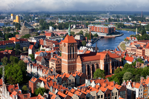 obraz lub plakat View Over City Of Gdansk In Poland