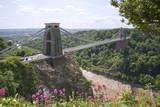 Historic landmark of The Clifton Suspension Bridge in the Clifton area of the City of Bristol, UK - 191872581