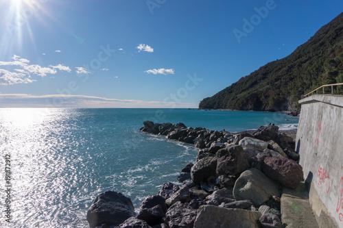 Fotobehang Liguria view of sea, Liguria