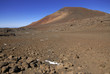 Red sands of Mauna Kea volcano, a popular mountain to hike and climb on the Big Island of Hawaii, USA located on The Ring of Fire