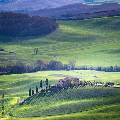 Tuscany, spring landscape, Pienza. Italy