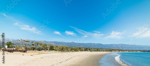 White sand in Santa Barbara shoreline - 191880559