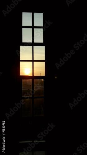 Tramonto visto dalla finestra