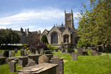 The historic Abbey Church and churchyard at Cirencester in the Cotswolds, Gloucestershire, UK - 191882342