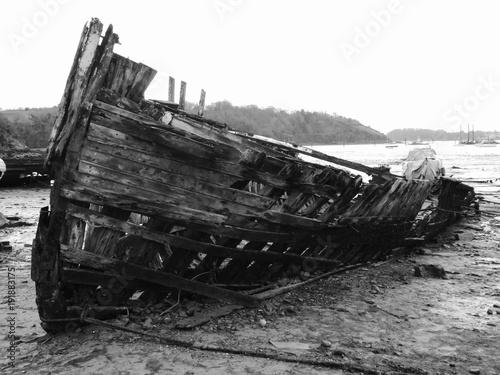 Deurstickers Schipbreuk Shipwreck