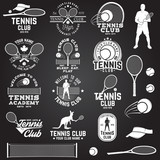 Fototapety Set of Tennis club badges with design element. Vector illustration.