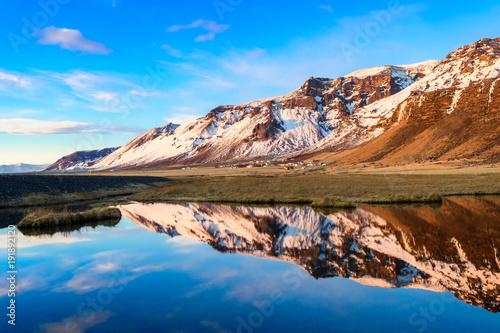 amazing countryside landscape of iceland