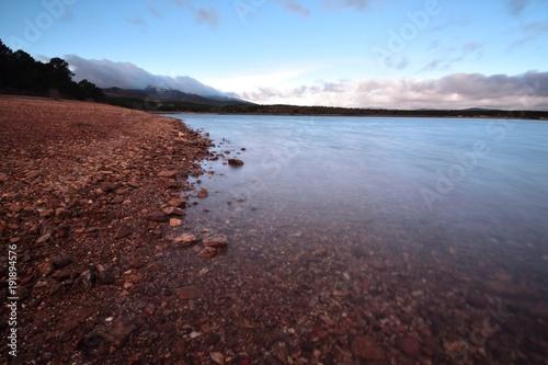 Deurstickers Diepbruine lago