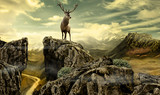 deer in wildness_photo-manipulation