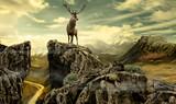 deer in wildness_photo-manipulation   - 191895526