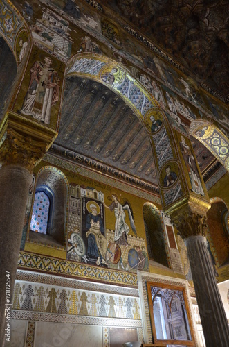 Tuinposter Palermo Internal view of the Palatine Chapel of Palermo