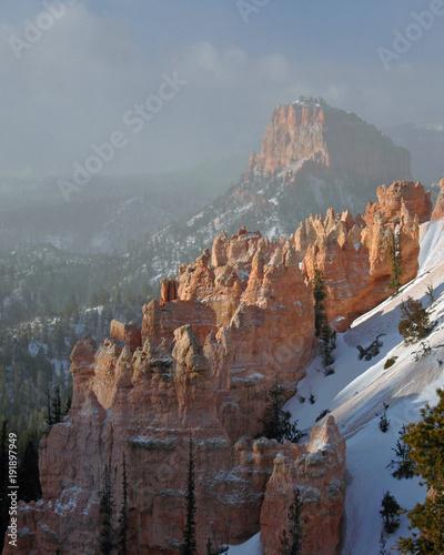 Fotobehang Diepbruine Bryce canyon