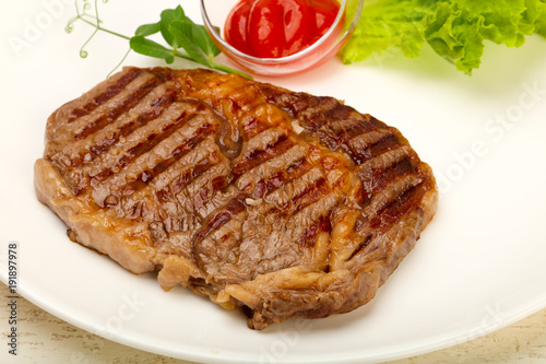 Foto op Aluminium Steakhouse Rib eye steak
