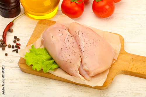 Raw chicken breast - 191899521