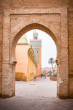 Marrakesh mosque seen from old town wall gate - 191902577