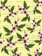 purple flowers pattern and yellow background - 191905116