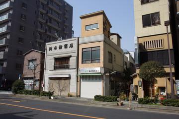 Asakusa Tokyo  Small  houses on the  edge  of the  city