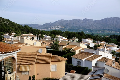 View over village near Pedreguer