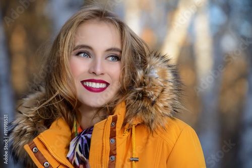 cheerful girl outdoor