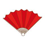 chinese fan decorative icon vector illustration design - 191918781