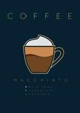 Poster coffee macchiato - 191926371