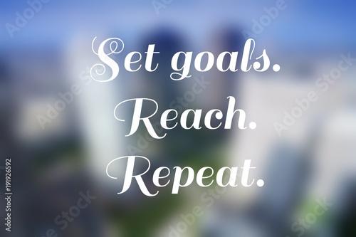 Goals - social media banner
