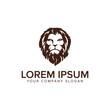 head Lion logo design concept template. fully editable vector