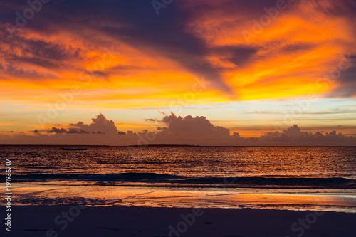 Fotobehang Zanzibar Zanzibar Sunset