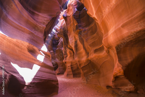 Fotobehang Baksteen - Beautiful of sandstone formations in upper Antelope Canyon, Page, Arizona, USA