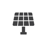 Solar panel icon vector, filled flat sign, solid pictogram isolated on white. Eco, save energy symbol, logo illustration. - 191948120