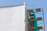 thermal exterior insulation of building. plastering and painting works during exterior wall renovations.  - 191955180