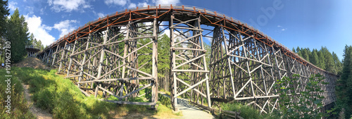 Aluminium Canada Panoramic view of Kinsol Trestle wooden bridge in Vancouver Island, Canada