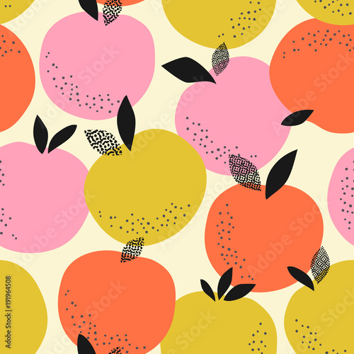 seamless pattern with oranges - 191964508