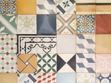 Colorful vintage ceramic tiles wall decoration background - 191966390