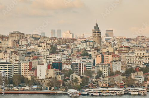 Aerial view the city of Istanbul