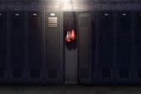 Open Locker And Hung Up Boxing Gloves - 191970325
