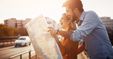 Beautiful couple traveling and sightseeing - 191974305
