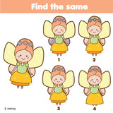 Find The Same Pictures Children Educational Game Find Same Fairy Wall Sticker