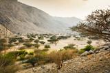 Jabal Jais mountain and desert landscape near Ras al Khaimah - 191980996