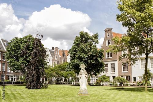 Deurstickers Amsterdam A Group Of Historic Buildings From Begijnhof, Amsterdam, Netherlands