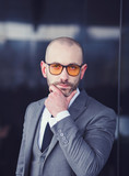 Portrait of an businessman in suit, outdoor - 191985568