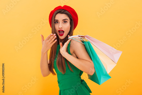 Plakat Portrait of a surprised young woman